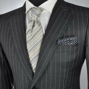 $5750.00 Brioni Pincio Super 150's Pinstriped Suit